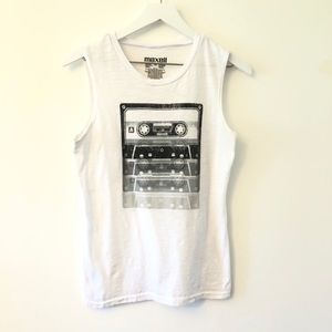 2FOR15 🌴 Maxell Cassette Muscle Graphic Tank